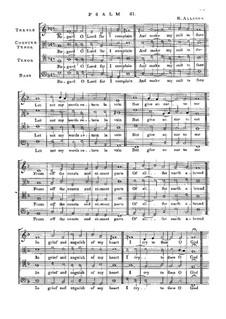 Псалм No.61 'Regard O Lord for I Complain': Псалм No.61 'Regard O Lord for I Complain' by Ричард Элисон