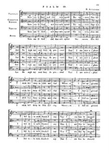 Псалм No.69 'Save Me o God and That with Speed': Псалм No.69 'Save Me o God and That with Speed' by Ричард Элисон