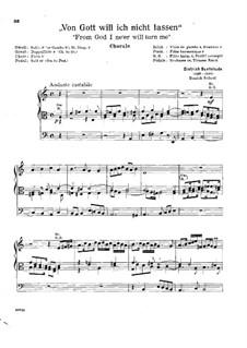 From God I Ne'er will Turn Me, BuxWV 220: Для органа by Дитрих Букстехуде