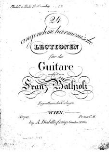 Twenty Four Pleasant Harmonic Lectiones: Twenty Four Pleasant Harmonic Lectiones by Franz Bathioli