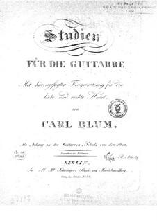 Упражнения для гитары, Op.44: Для одного исполнителя by Карл Вильгельм Август Блум