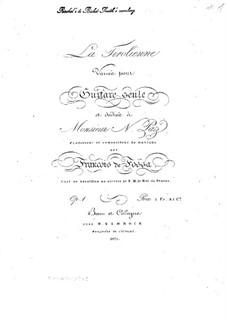 La Tirolienne. Variations for Guitar, Op.1: La Tirolienne. Variations for Guitar by François de Fossa
