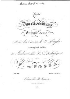 Four Divertissements, Op.13: Four Divertissements by François de Fossa