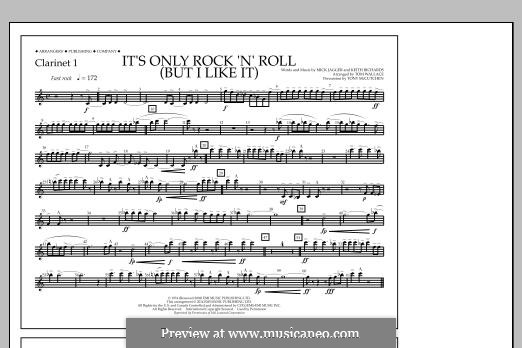 It's Only Rock 'n' Roll (But I Like It): Clarinet 1 part by Keith Richards, Mick Jagger