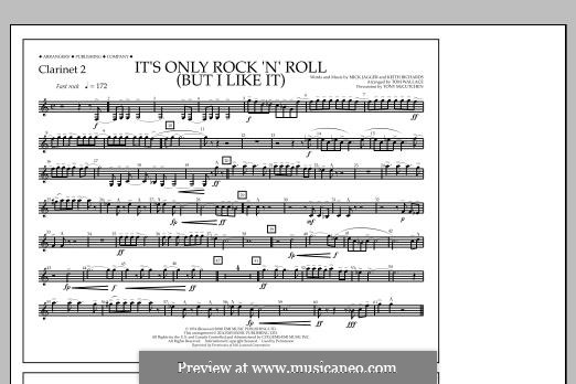 It's Only Rock 'n' Roll (But I Like It): Clarinet 2 part by Keith Richards, Mick Jagger