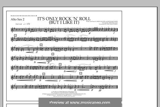 It's Only Rock 'n' Roll (But I Like It): Alto Sax 2 part by Keith Richards, Mick Jagger