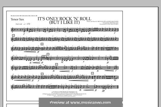 It's Only Rock 'n' Roll (But I Like It): Tenor Sax part by Keith Richards, Mick Jagger