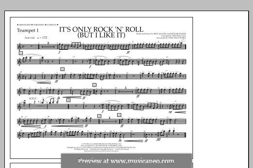 It's Only Rock 'n' Roll (But I Like It): Trumpet 1 part by Keith Richards, Mick Jagger