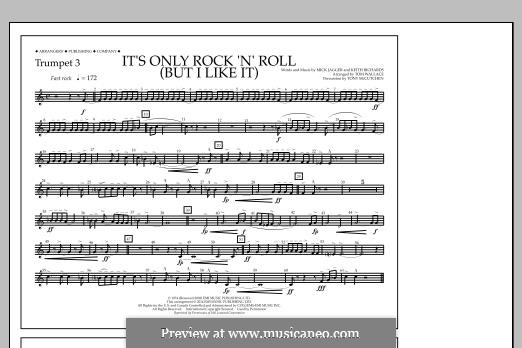 It's Only Rock 'n' Roll (But I Like It): Trumpet 3 part by Keith Richards, Mick Jagger