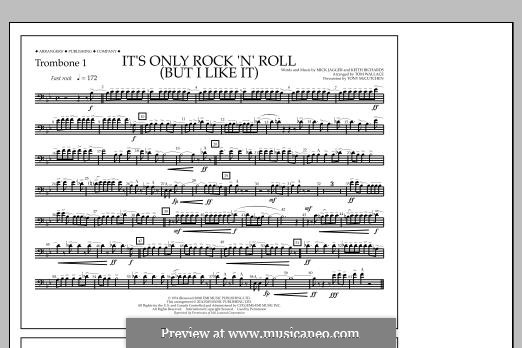 It's Only Rock 'n' Roll (But I Like It): Trombone 1 part by Keith Richards, Mick Jagger