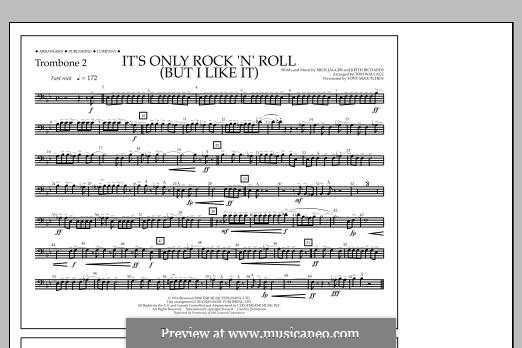 It's Only Rock 'n' Roll (But I Like It): Trombone 2 part by Keith Richards, Mick Jagger
