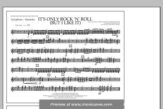 It's Only Rock 'n' Roll (But I Like It): Xylophone/Marimba part by Keith Richards, Mick Jagger