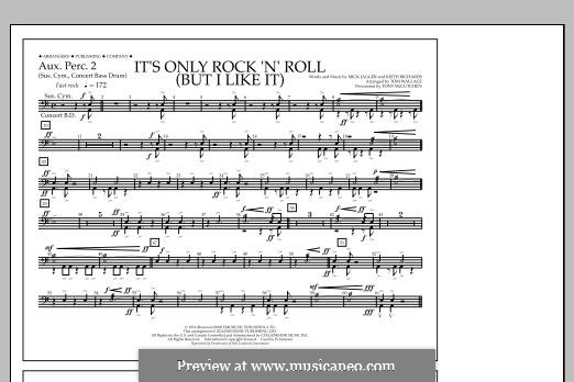 It's Only Rock 'n' Roll (But I Like It): Aux. Perc. 2 part by Keith Richards, Mick Jagger