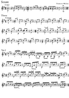 Три легкие сонаты, Op.1: Соната No.2 by Франческо Молино