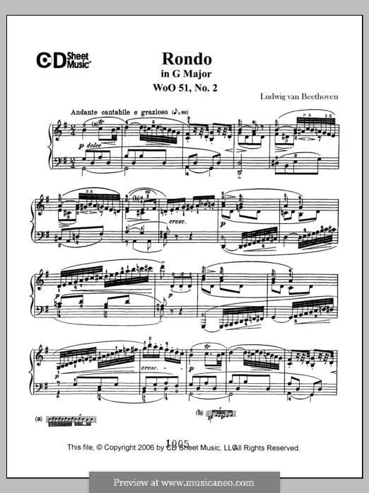 Два рондо для фортепиано, Op.51: Rondo No.2 by Людвиг ван Бетховен