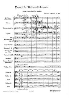 Концерт для скрипки с оркестром ре мажор, BV 243 Op.35a: Партитура by Ферруччо Бузони