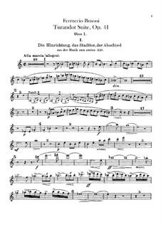 Турандот. Сюита, BV 248 Op.41: Партии гобоев by Ферруччо Бузони