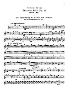 Турандот. Сюита, BV 248 Op.41: Партии труб by Ферруччо Бузони