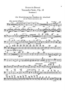 Турандот. Сюита, BV 248 Op.41: Партии тромбонов и тубы by Ферруччо Бузони