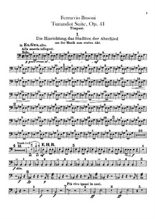 Турандот. Сюита, BV 248 Op.41: Партия литавр by Ферруччо Бузони