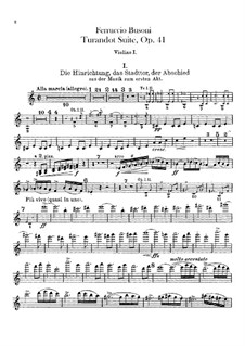 Турандот. Сюита, BV 248 Op.41: Партии скрипок by Ферруччо Бузони