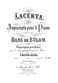 Lacerta. Impromptu, Op.27: Переложение для скрипки и фортепиано by Ганс фон Бюлов
