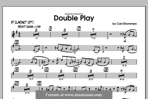 Double Play: Bb Clarinet part by Carl Strommen