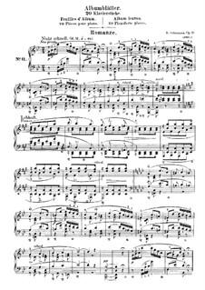 Листки из альбома, Op.124: No.11 Романс by Роберт Шуман