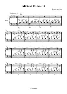Minimal Preludes, Book II: Prelude No.18 by Jeroen Van Veen