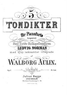 Пять пьес, Op.7: Пять пьес by Valborg Aulin
