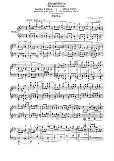 Листки из альбома, Op.124: No.12-13 by Роберт Шуман