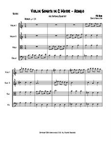Соната для скрипки No.3 ля минор, BWV 1005: Переложение для струнного квартета by Иоганн Себастьян Бах