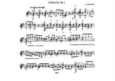 Соната No.1 ми минор: Для гитары by Heinrich Albert