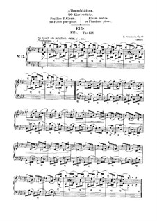 Листки из альбома, Op.124: No.17 Эльф by Роберт Шуман