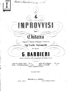 Четыре импровизации: Для гитары by Girolamo Barbieri
