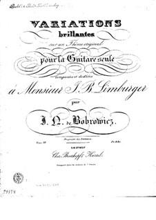 Brilliant Variations, Op.10: Brilliant Variations by Ян Непомуцен Бобрович