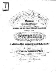 Большое попурри на темы из оперы 'Цампа' Ф. Герольда, Op.21: Для гитары by Ян Непомуцен Бобрович