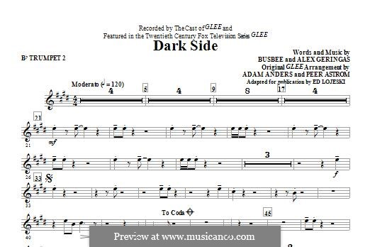Dark Side (Kelly Clarkson): Bb Trumpet 2 part by Busbee, Alexander Geringas