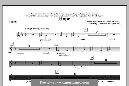 Hope: F Horn part by Greg Gilpin