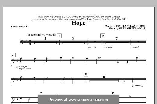 Hope: Trombone 1 part by Greg Gilpin