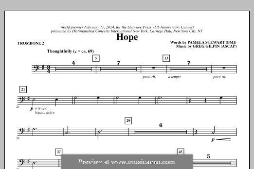 Hope: Trombone 2 part by Greg Gilpin