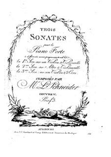 Три сонаты для фортепиано с аккомпанементом разных инструментов, Op.5: Партии by Лоренц Шнайдер