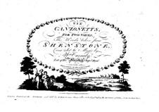 Шесть канцонетт для двух голосов, клавесина (или фортепиано): Шесть канцонетт для двух голосов, клавесина (или фортепиано) by William Carnaby