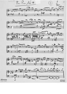 Пьеса для фортепиано No.14: Пьеса для фортепиано No.14 by Эрнст Леви