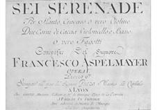 Шесть серенад для духовых и струнных инструментов, Op.1: Шесть серенад для духовых и струнных инструментов by Franz Asplmayr