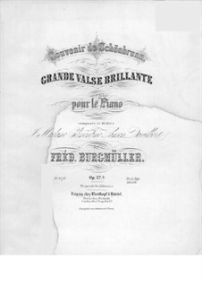Большой блестящий вальс, Op.32: Большой блестящий вальс by Иоганн Фридрих Бургмюллер