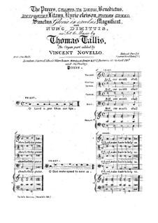 Избранные произведения, для хора и органа: Избранные произведения, для хора и органа by Томас Таллис