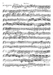 Три квартета для флейты и струнных, Op.17: Партия скрипки by Франц Александр Поссингер