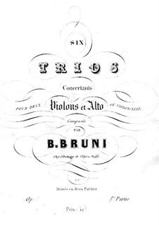 Шесть концертных трио для двух скрипок и альта (или виолончели), Op.1: Трио No.1-3 – Партия первой скрипки by Антонио Бартоломео Бруни