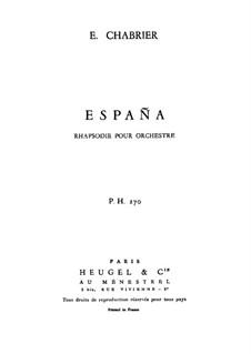 Испания : Партитура by Эммануэль Шабрие